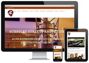 website design for sound studio
