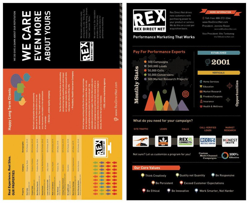Infographic Flyer for Rex Direct