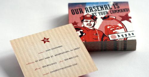 hypno business cards arsenal