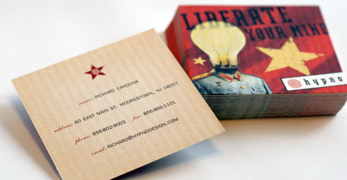 hypno business cards liberate