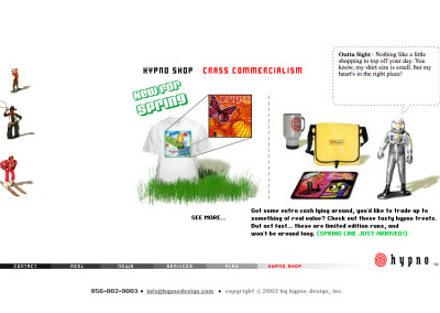 hypno website design in 2003-e