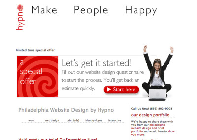 hypno website design in 2007-a