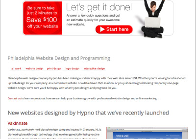 hypno website design in 2013-c