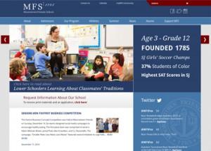 Responsive Web Design for Private school near Philadelphia