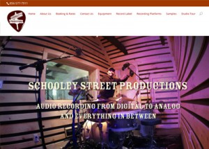 Responsive Web Design for Philadelphia Area recording studio