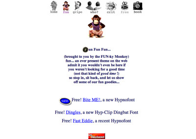 hypno website design in 1994-b
