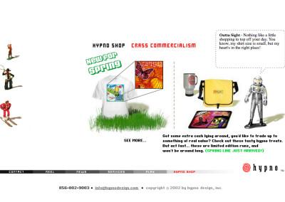 hypno website design in 2003-e