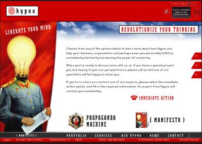 hypno website design in 2004-b