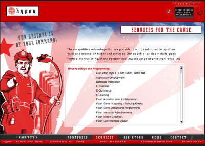 hypno website design in 2004-c