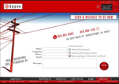 hypno website design in 2004-g