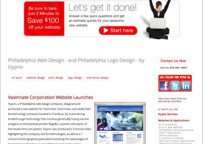 hypno website design in 2013