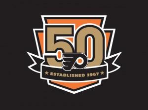 Philadelphia-Flyers-50th-anniversary-logo-design