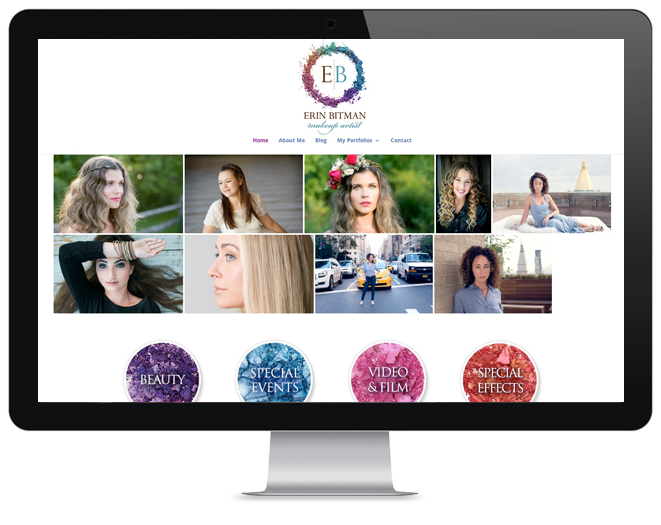 beauty industry website design