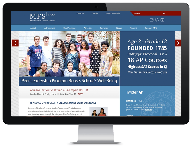 Responsive website design for education