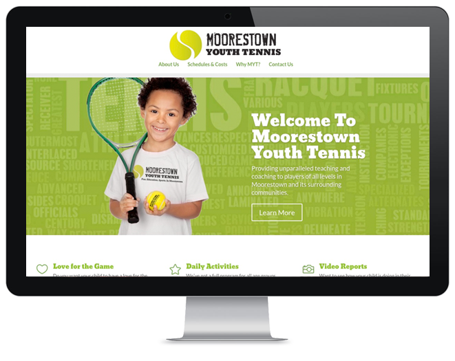 Youth Sports website design
