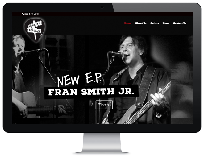 Record Company Website Design