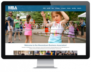Web design for Moorestown Business organization