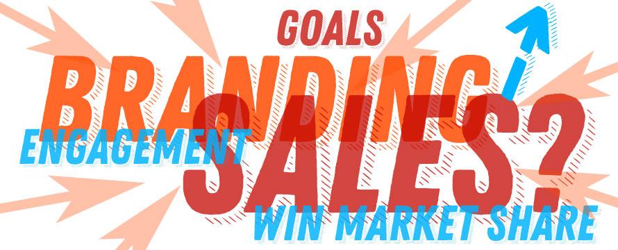 web design branding and website sales goals
